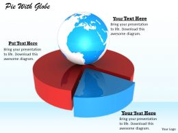 0514 Earth Pie Chart Globe Image Graphics For Powerpoint