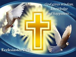 0514 Ecclesiastes 226 Wisdom Knowledge And Happiness Powerpoint Church Sermon