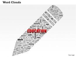 0514 Education Word Cloud Powerpoint Slide Template
