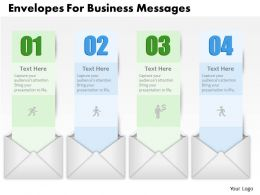 0514 Envelopes For Business Messages Powerpoint Presentation