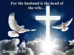 0514 Ephesians 523 For The Husband PowerPoint Church Sermon