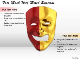 0514 Face Mask With Mixed Emotions Image Graphics For Powerpoint