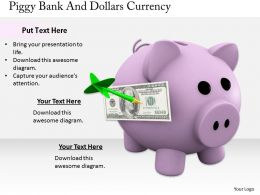 0514 Fill Up Piggy With Dollars Image Graphics For Powerpoint
