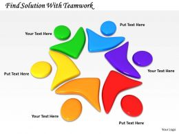 0514 Find Solution With Teamwork Image Graphics For Powerpoint