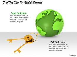 0514 Find The Key For Global Business Image Graphics For Powerpoint