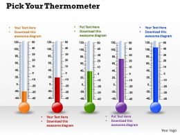 0514 Five Different Scientific Thermometers Medical Images For Powerpoint