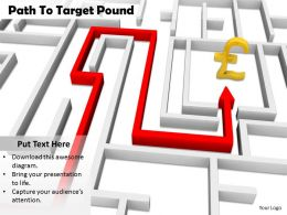 0514 folow the path to earn pound Image Graphics for PowerPoint