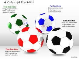 0514 Footballs To Hit Goals Image Graphics For Powerpoint