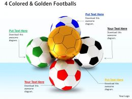 0514 Footballs To Score Goals Image Graphics For Powerpoint