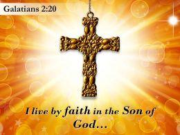 0514 Galatians 220 I live by faith PowerPoint Church Sermon