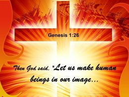 0514 Genesis 126 Let Us Make Human Power Point Church Sermon