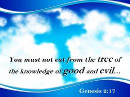 0514 Genesis 217 The Tree Of The Knowledge Powerpoint Church Sermon