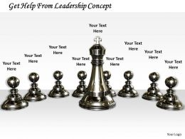 0514 Get Help From Leadership Concept Image Graphics For Powerpoint