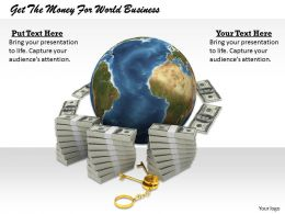 0514 Get The Money For World Business Image Graphics For Powerpoint