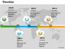 0514 Global Business Data Driven Time Line Diagram Powerpoint Slides