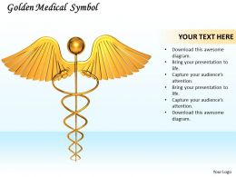 0514 Golden Symbol Of Medicine Image Graphics For Powerpoint