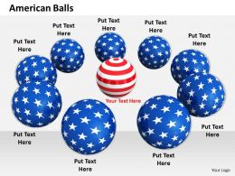 0514 graphic of balls with flag design Image Graphics for PowerPoint