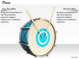 0514 Graphic Of Drum For Music Theme Image Graphics For Powerpoint
