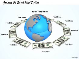 0514 Graphic Of Earth With Dollar Image Graphics For Powerpoint