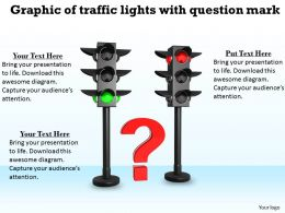 0514 Graphic Of Traffic Lights With Question Mark Image Graphics For Powerpoint