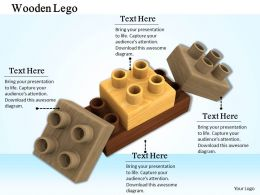 0514 Graphic Of Wooden Lego Blocks Image Graphics For Powerpoint