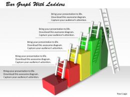 0514 Growth Ladders On Bar Graph Image Graphics For Powerpoint