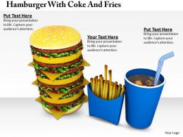 0514 Hamburger With Coke And Fries Image Graphics For Powerpoint