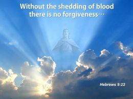 0514 Hebrew 922 The Shedding Of Blood There PowerPoint Church Sermon