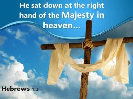 0514 Hebrews 13 Majesty In Heaven Powerpoint Church Sermon