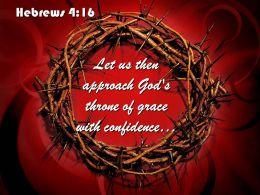 0514 Hebrews 416 Let Us Then Approach God PowerPoint Church Sermon
