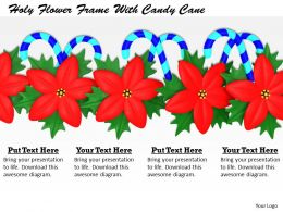 0514 Holy Flower Frame With Candy Cane Image Graphics For Powerpoint