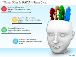 0514 Human Head Is Full With Geared Ideas Image Graphics For Powerpoint