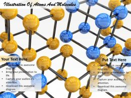 0514 Illustration Of Atoms And Molecules Image Graphics For Powerpoint