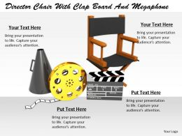 0514 Illustration Of Directors Chair With Clap Board Image Graphics For Powerpoint