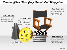 0514 Illustration Of Directors Chair With Megaphone Image Graphics For Powerpoint