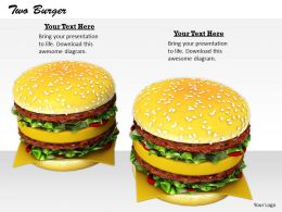 0514 Illustration Of Two Hamburgers Image Graphics For Powerpoint