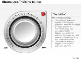0514 Illustration Of Volume Button Powerpoint Presentation