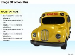0514 Image Of School Bus Image Graphics for PowerPoint