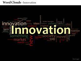 0514 Innovation Word Cloud Powerpoint Slide Template