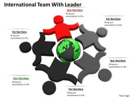 0514 International Team With Leader Image Graphics For Powerpoint