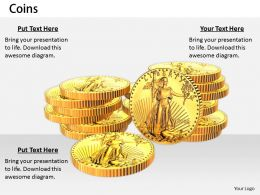 0514 Investment In US Gold Coins Image Graphics for PowerPoint