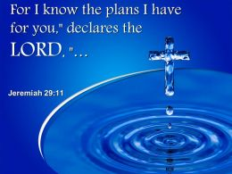 0514 Jeremiah 2911 For I Know The Plans Power PowerPoint Church Sermon