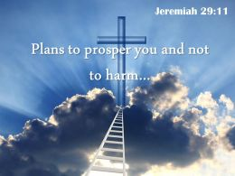0514 Jeremiah 2911 You And Not To Harm You Powerpoint Church Sermon