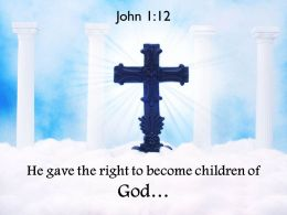0514 John 112 The Right To Become Children Powerpoint Church Sermon
