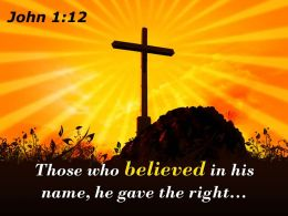 0514 John 112 Those Who Believed In His Name Powerpoint Church Sermon