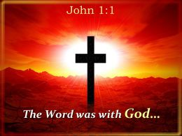 0514 John 11 In The Beginning Was The Word Powerpoint Church Sermon