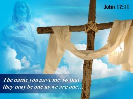0514 John 1711 The Name You Gave Me Powerpoint Church Sermon