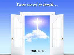 0514 John 1717 Your Word Is Truth Power Powerpoint Church Sermon