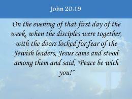 0514 John 2019 Peace be with you PowerPoint Church Sermon