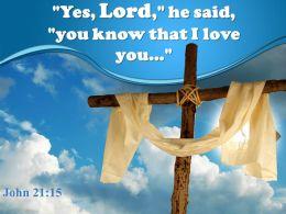 0514 John 2115 Yes Lord He Said You Powerpoint Church Sermon